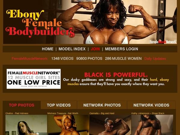 Ebony Female Body Builders Cuentas