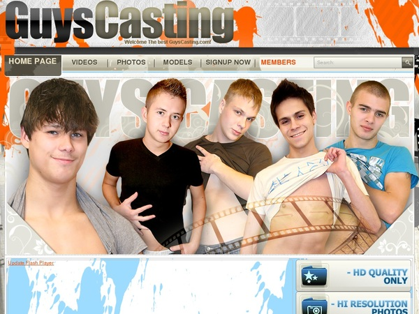 Guys Casting Billing Page