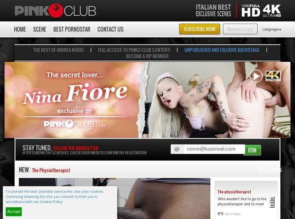 Pinkoclub.com Login Codes